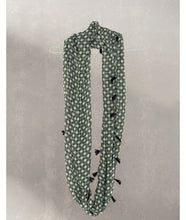 Load image into Gallery viewer, Jaali Print Infinity Scarves : Green