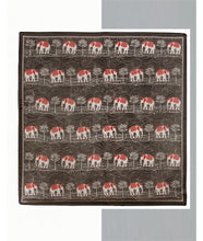Load image into Gallery viewer, Elephant Print Silk Scarf : Brown