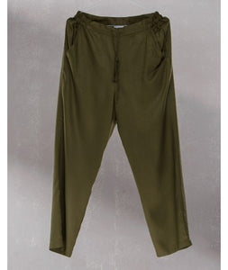 Drawstring Comfort Travel Pants : Khaki