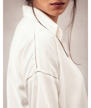 Load image into Gallery viewer, Drop Shoulder 3/4 Sleeve Shirt  : Off White