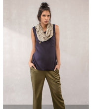 Load image into Gallery viewer, Jaali Print Infinity Scarves : Khaki