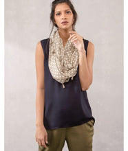Load image into Gallery viewer, Jaali Print Infinity Scarves : Beige