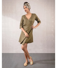 Load image into Gallery viewer, Wrap Dress  : Charcoal