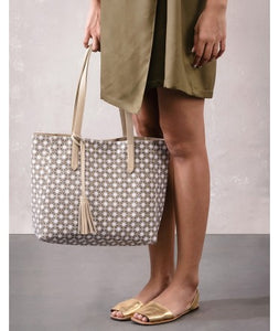 Avni Reversable Tote Bag : Beige
