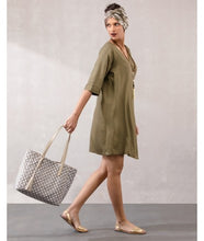 Load image into Gallery viewer, Wrap Dress  : Khaki