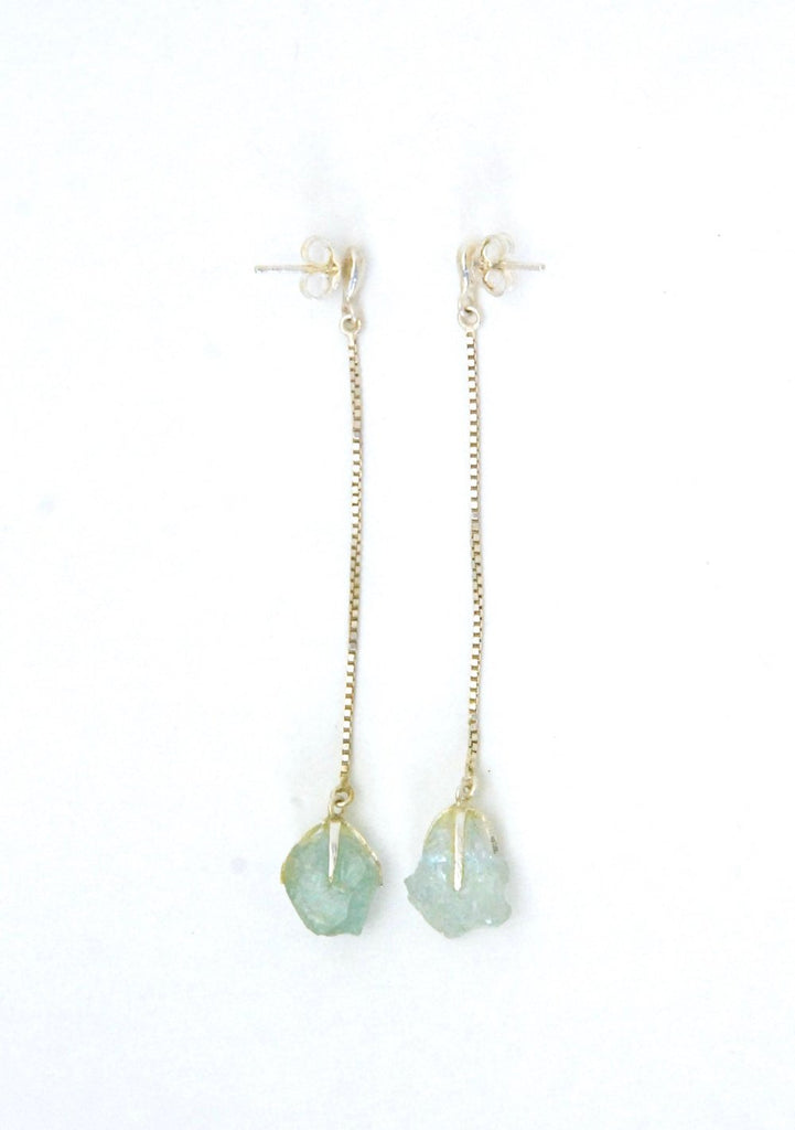 Azenya Burdett Aquamarine Drop Earrings