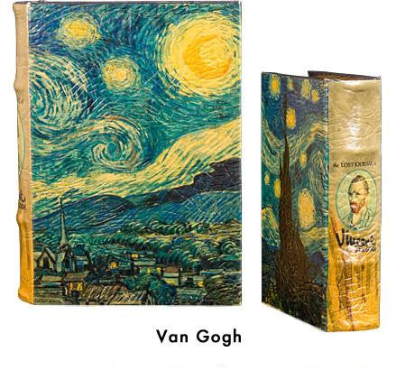 BOOK BOXES VAN GOGH STARRY NIGHT IMPRESSIONIST FINE ART HISTORY HOME ourgallerystore museum store contemporary art high design functional art