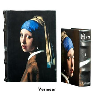 BOOK BOXES VERMEER GIRL WITH PEARL EARRING FINE ART HISTORY HOME ourgallerystore museum store contemporary art high design functional art