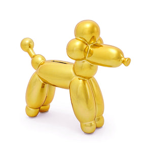 piggy bank, poodle bank, save, money, gold