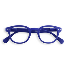 blue reading glasses