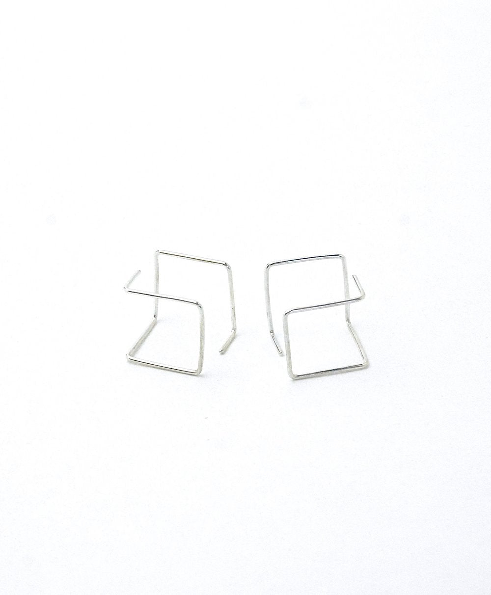 Azenya Burdett Cube Earrings