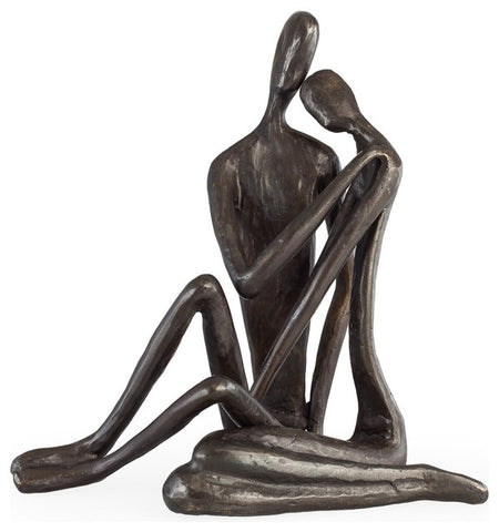 DANYA B COUPLE EMBRACING ART and DESIGN GIFTS SCULPTURE BRONZE STATUE EMBRACING ourgallerystore museum store contemporary art high design functional art