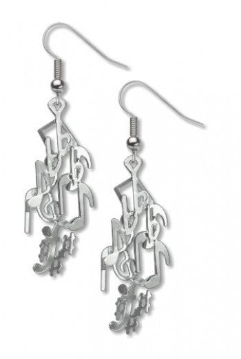 X David Howell Musical Notes Earrings
