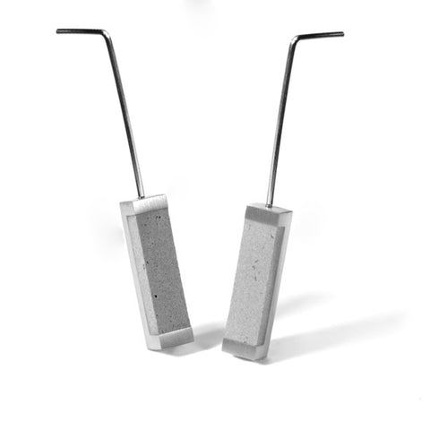 Concrete and Steel Earrings