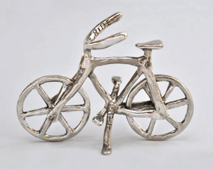 "Tamara Hensick Pewter Bicycle Sculpture: ""Enjoy the Ride"""