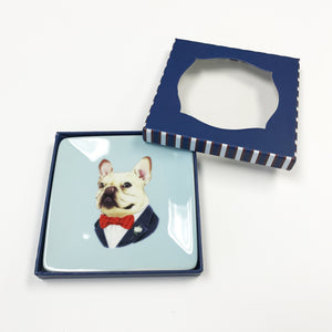 Gilson Frenchie Portrait Porcelain Tray