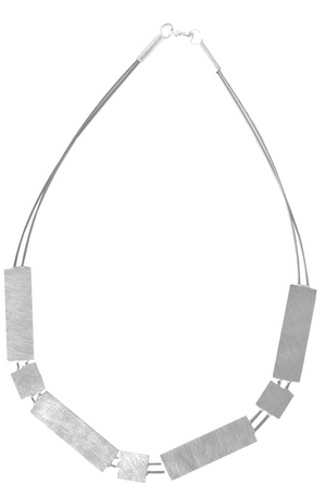Geometric Silver Cable Necklace Oblik Atelier