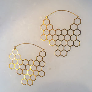 Azenya Burdett Hexagon Stability Earrings