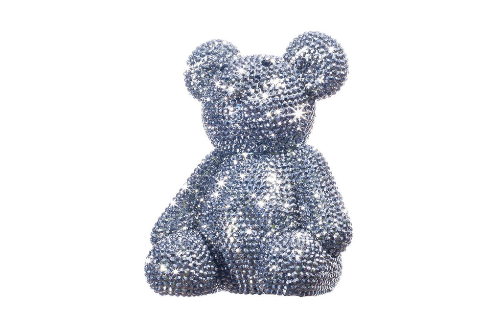 Graphite Rhinestone Bear Bank