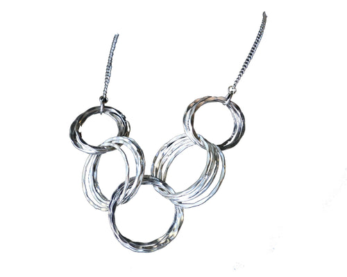 Anju Small Silver Hoop Necklace