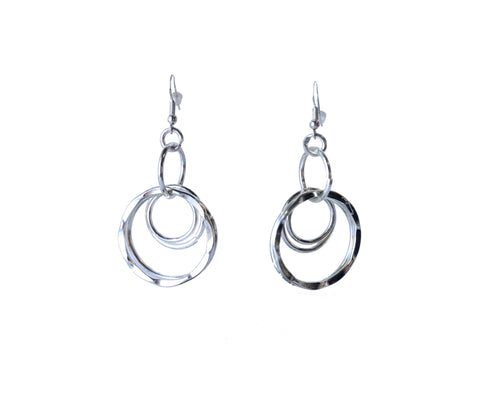Anju Silver Hoop Earrings