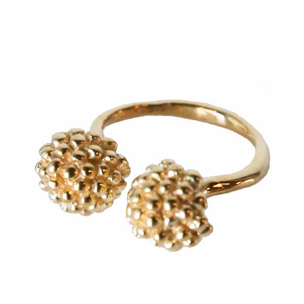 Double Vine Top Gold Ring