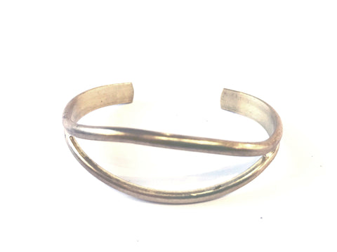 Brass Cuff with Opening