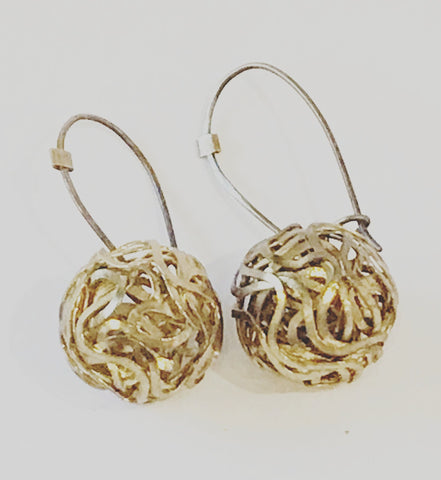Brass Orb Earrings