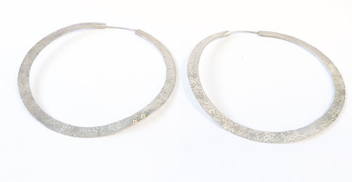 Maddalena Bearzi Silver Large Hoop Earrings