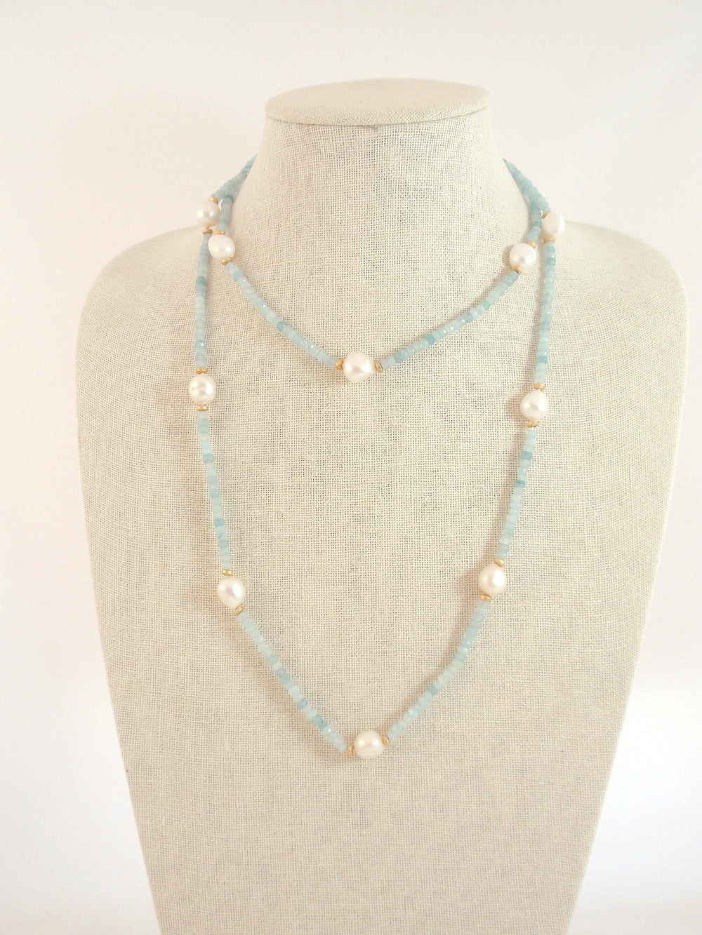 The Island Pearl Aqua Jade and Freshwater Pearls