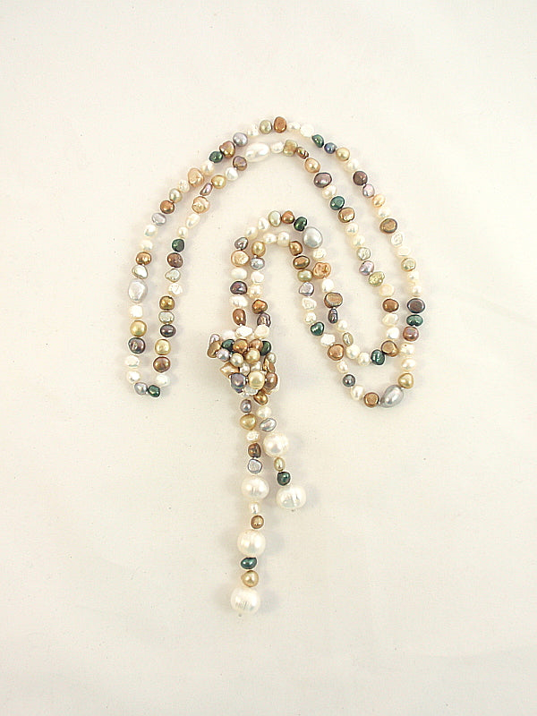 The Island Pearl Mixed Freshwater Pearl Lariat