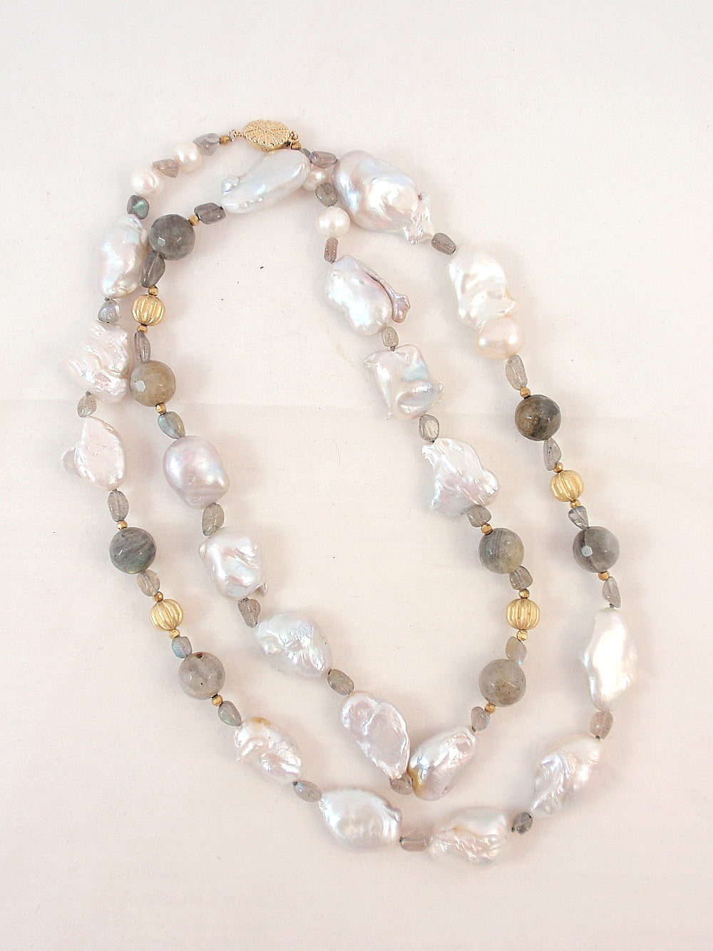 The Island Pearl Baroque Pearls and Labradorite