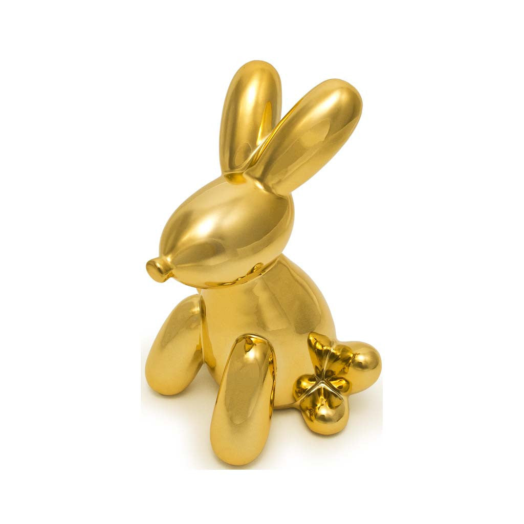 JEFF KOONS BUNNY BANK ART GIFTS CONTEMPORARY POP GOLD ourgallerystore museum store contemporary art high design functional art
