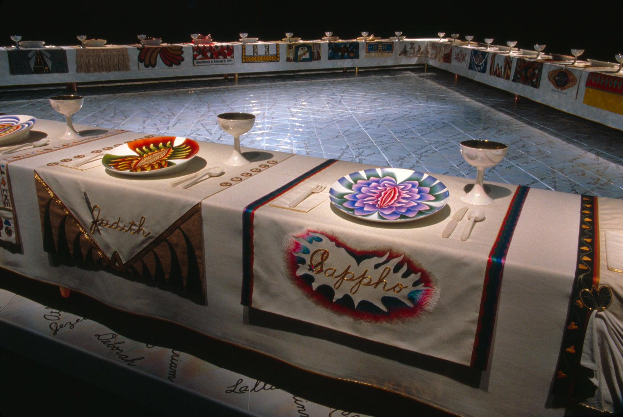 Judy Chicago The Dinner Party Sappho