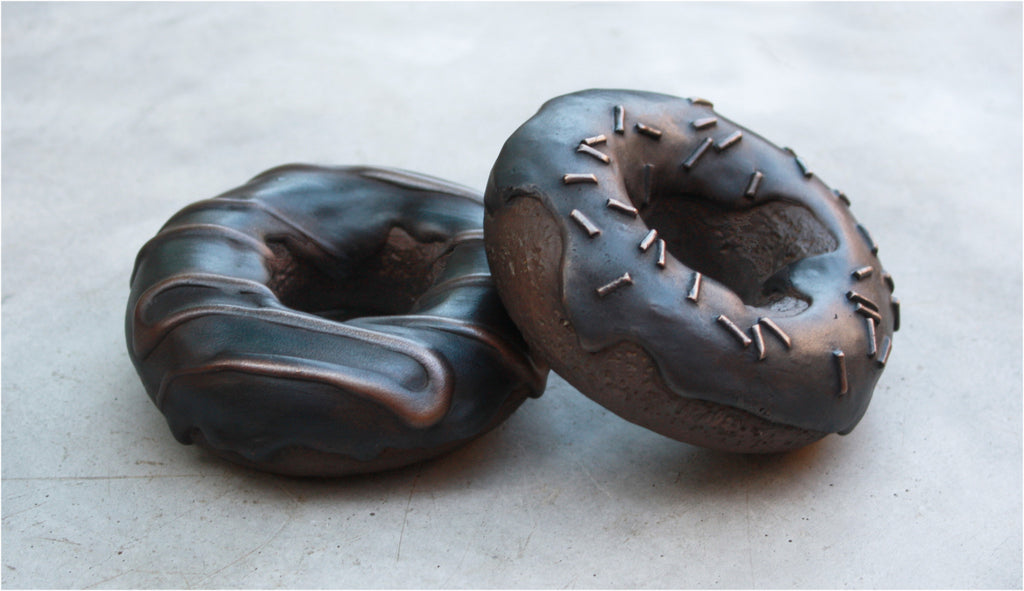 KEVORK CHOLAKIAN BRONZE DONUT DOUGHNUT SCULPTURE ART CONTEMPORARY DECORATION FUNNY FOOD ourgallerystore