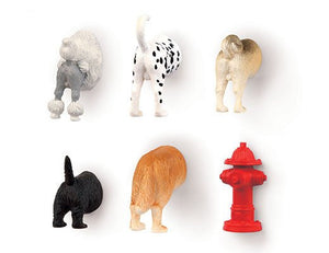 KIKKERLAND-DOG-BUTT-MAGNETS-FRIDGE-GIFT-ANIMALS-FUN-KIDS-DALMATIAN-POODLE-PUG-PLASTIC-ourgallerystore-museum-store-contemporary-art-high-design-functional-art
