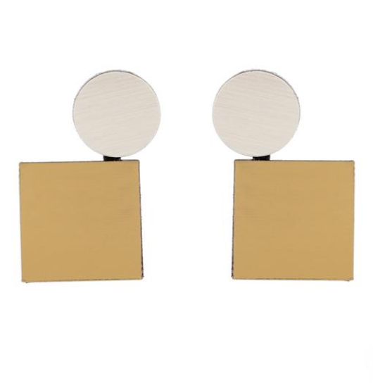 Kaia Earrings Circle-Square Iskin Sisters