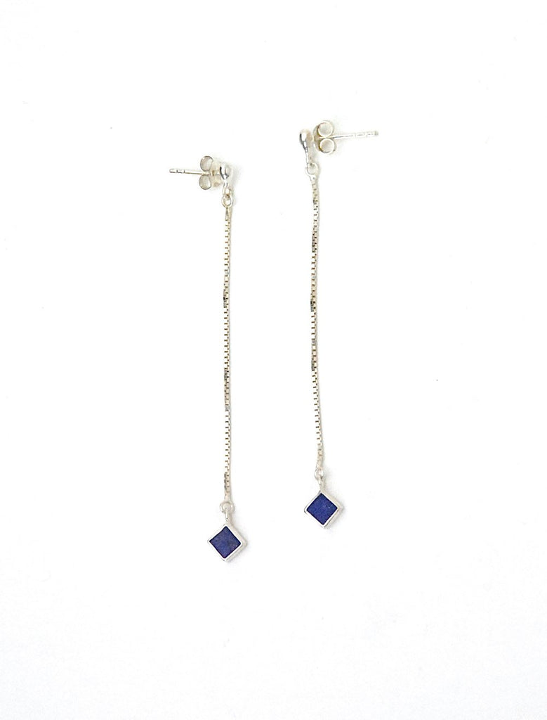 Azenya Burdett Lapis Lazuli Drop Earrings