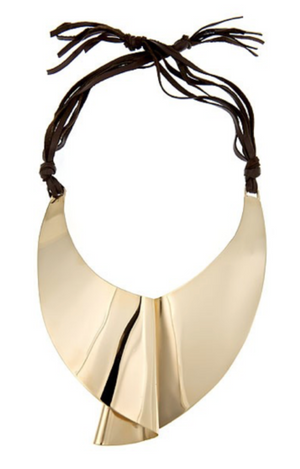 Moby Dick Bib Necklace Oblik Atelier Gold Plated