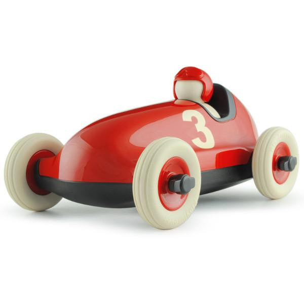 PLAYFOREVER RED BRUNO RACING CAR THREE VINTAGE RETRO TOYS CHILDREN ourgallerystore museum store contemporary art high design functional art