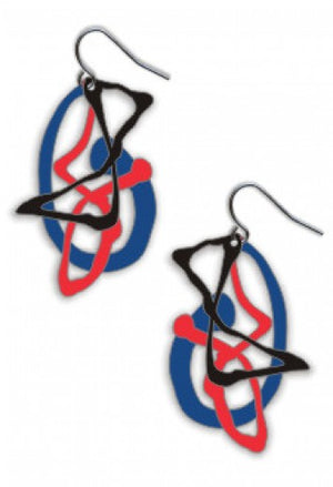 David Howell - Pollock's Ghosts earrings