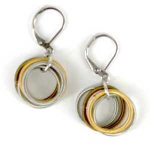 Lorraine Sayer Gold, Silver, Bronze Loop Earring