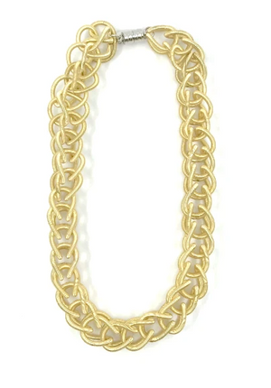 Lorraine Sayer Bright Gold Chain Link Necklace
