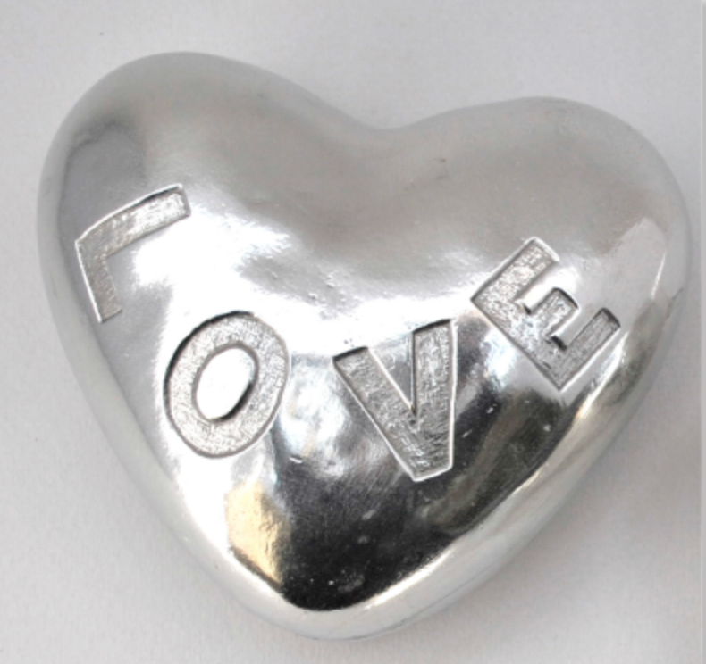 tamara hensick, love, heart, pewter, noise maker