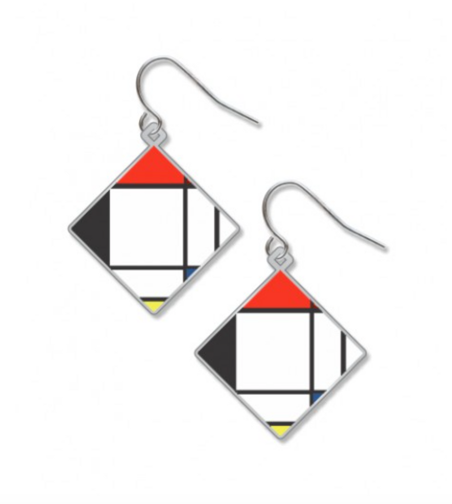 David Howell - Mondrian Lozenge Earrings