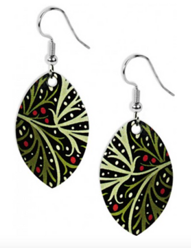 David Howell - William Morris Seaweed Earrings