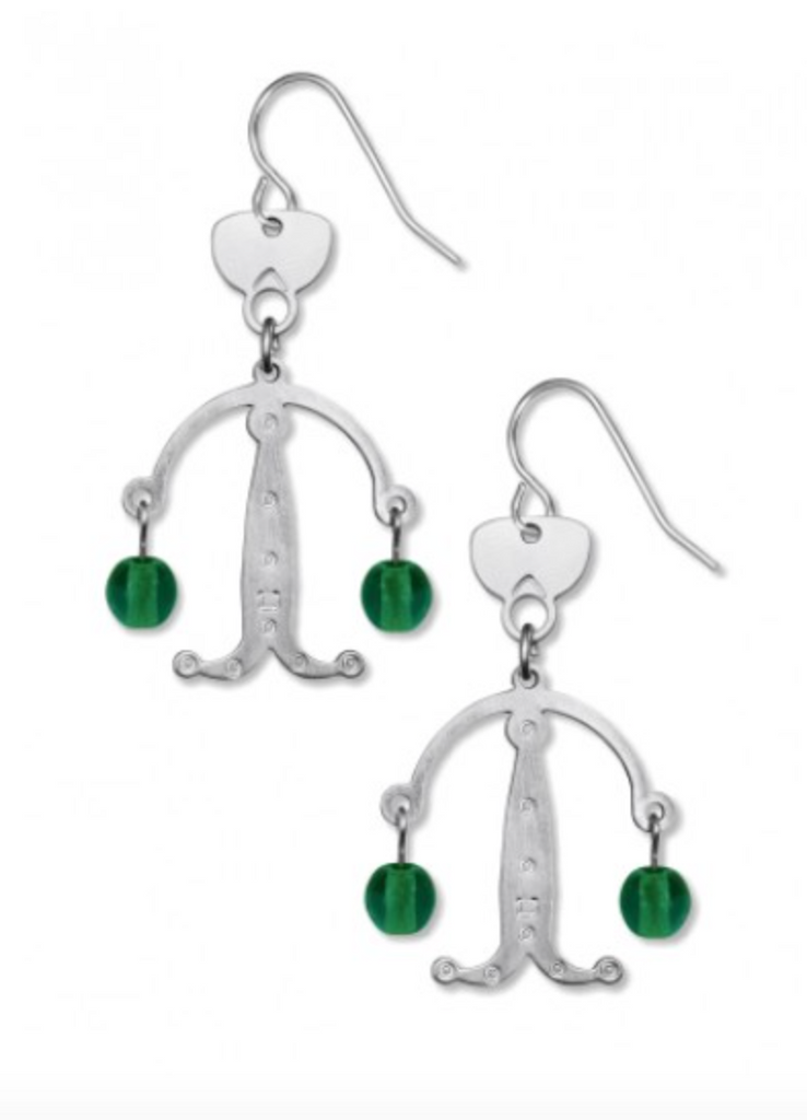 David Howell - Objet Trouve Green Earrings