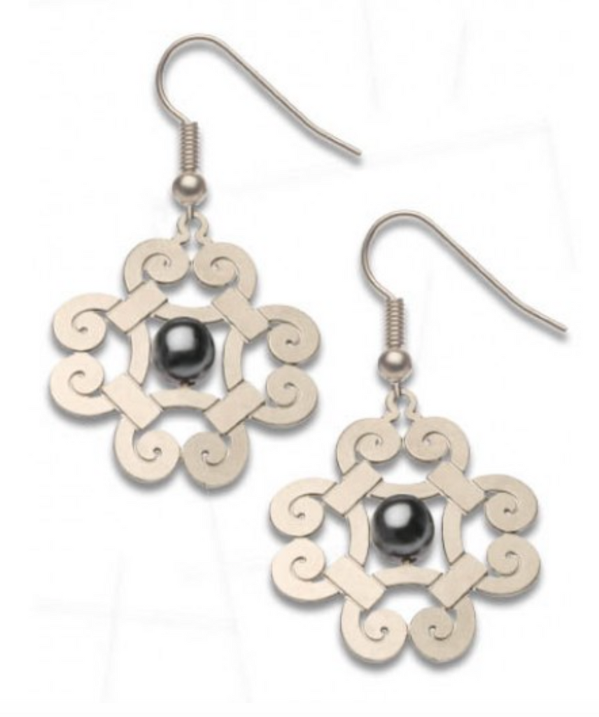 David Howell - Gibson Girl Pearls, Tahitian black faux pearl