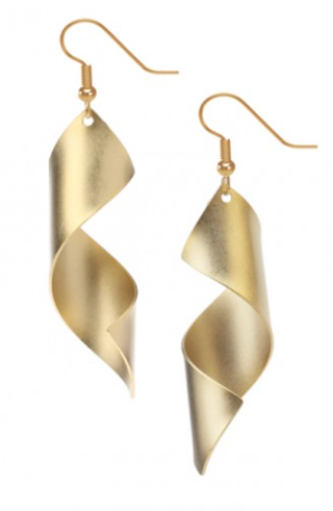 David Howell - Man Ray Lampshade Gold Earrings