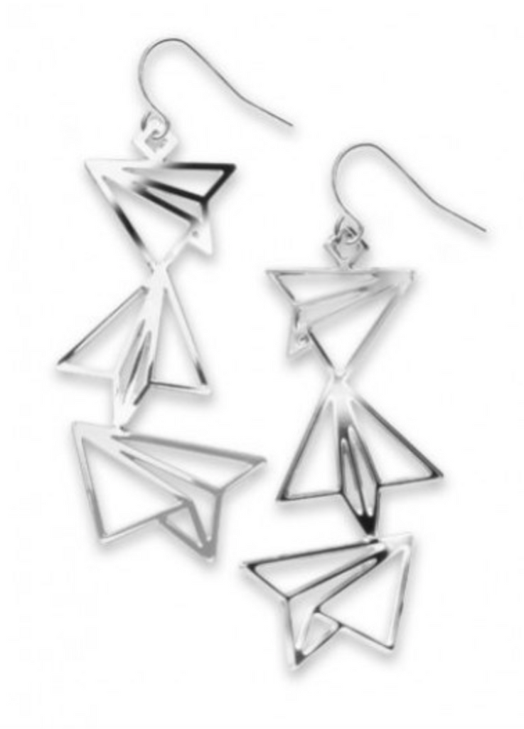 David Howell - Paper Airplanes Earrings
